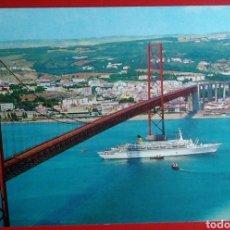 Postales: POSTAL PORTUGAL LISBOA PUENTE 25 ABRIL. Lote 143840882