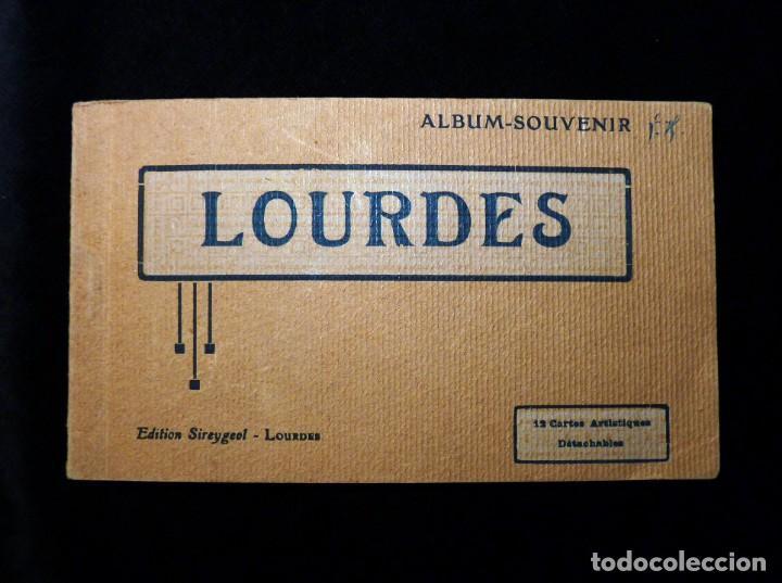 ALBUM SOUVENIR LOURDES, 12 POSTALES COLOREADAS. ED. SIREYGEOL. AÑOS 20. NUEVO Y PERFECTO (Postales - Postales Extranjero - Europa)