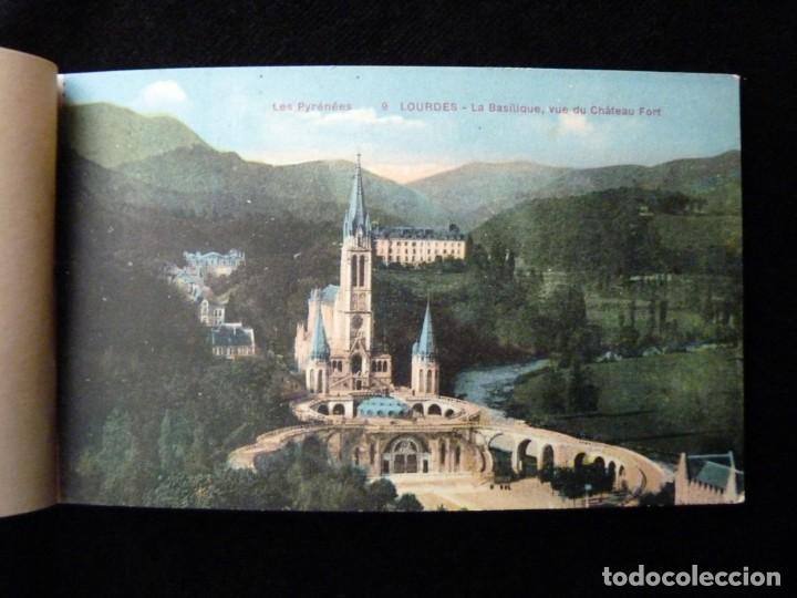 Postales: ALBUM SOUVENIR LOURDES, 12 POSTALES COLOREADAS. ED. SIREYGEOL. AÑOS 20. NUEVO Y PERFECTO - Foto 2 - 144158218