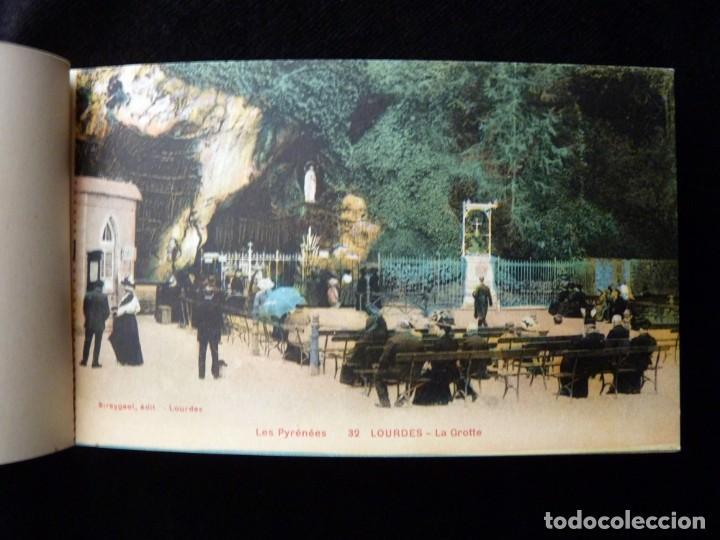 Postales: ALBUM SOUVENIR LOURDES, 12 POSTALES COLOREADAS. ED. SIREYGEOL. AÑOS 20. NUEVO Y PERFECTO - Foto 3 - 144158218
