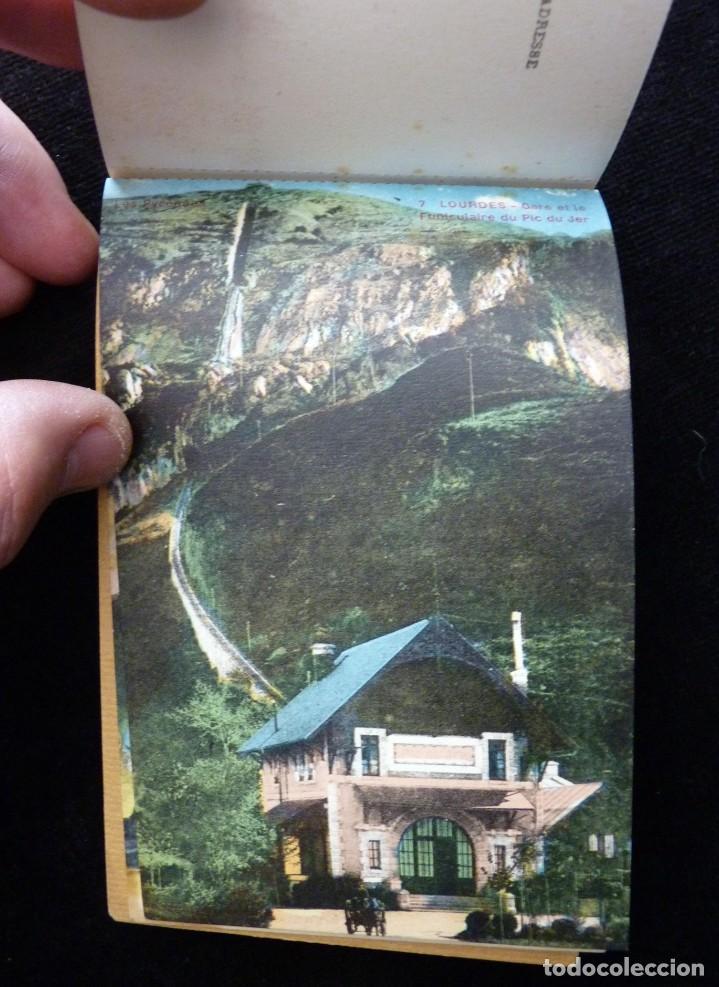 Postales: ALBUM SOUVENIR LOURDES, 12 POSTALES COLOREADAS. ED. SIREYGEOL. AÑOS 20. NUEVO Y PERFECTO - Foto 6 - 144158218
