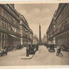 Postales: ANTIGUA POSTAL SERIE 1 519 PARIS EN FLANANT RUE DE CASTIGLIONE YVON. Lote 144733774