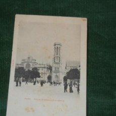 Postales: FRANCIA - PARIS EGLISE SAINT GERMAIN L'AUXERROIS - REVERSO SIN PARTIR - A,TARIDE. Lote 144777674