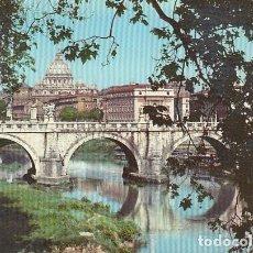 Postales: ROMA. BASILICA DI S. PIETRO E PONTE S. ANGELO. Lote 145959486