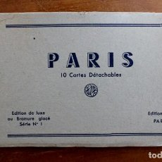 Postales: PARIS - 10 CARTES DÉTACHABLES. Lote 146317166