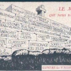 Postales: POSTAL PARIS - LE BON FOYER DE BELLEVILLE - RUE CLAVEL - CIRCULADA. Lote 146430666