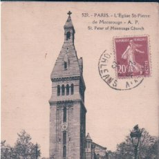 Postales: POSTAL PARIS - L'EGLISE ST PIERRE DE MONTROUGE - A P - ST PETER OF MONTROUGE CHURCH. Lote 146510698