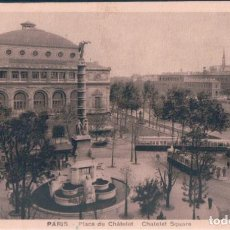 Postales: POSTAL PARIS - PLACE DU CHATELET - CHATELET SQUARE - LECONTE - CIRCULADA. Lote 146513618