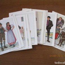 Postales: 24 POSTALES SERIE COMPLETA TRAJES TIPICOS DE ALEMANIA - POSTAL 10,5 X 15 CM. (POFTKARTE). Lote 146536810
