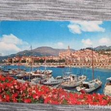 Postales: 6080 FRANCIA FRANCE ALPES MARITIMES MENTON LE PORT ET LA VIEILLE VILLE 1984. Lote 147102362