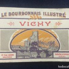 Postales: ALBUM DE 40 POSTALES DE VICHY (FRANCIA) COLECCION IDEAL. Lote 147143390
