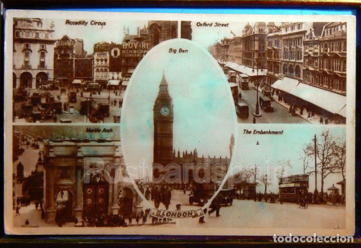 Postales: Londres London - Oxford Street - Big Ben - Piccdilly Circus - Foto 1 - 147279338