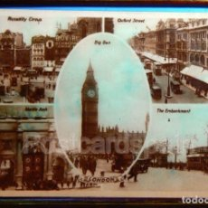 Postales: LONDRES LONDON - OXFORD STREET - BIG BEN - PICCDILLY CIRCUS. Lote 147279338