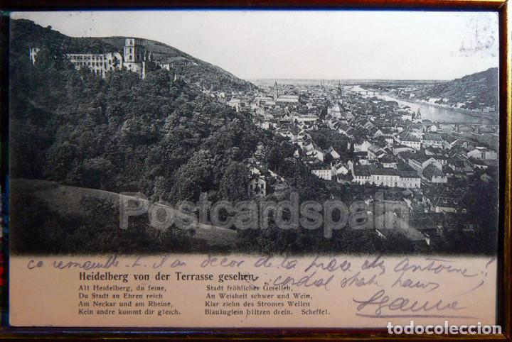 HEIDELBERG VON DER TERRASSE GESEHEN, 1906 (Postales - Postales Extranjero - Europa)