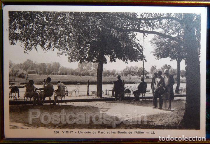 VICHY UN COIN DU PARC ET LES BORDS DE L´ALLIER CARTE POSTALE (Postales - Postales Extranjero - Europa)
