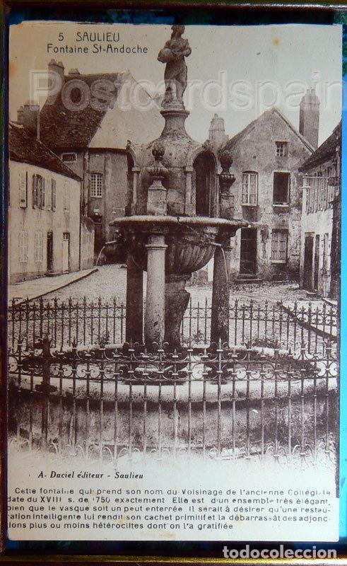 SAULIEU FONTAINE ST ANDOCHE 1936 (Postales - Postales Extranjero - Europa)