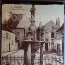 Postales: SAULIEU FONTAINE ST ANDOCHE 1936. Lote 147281954