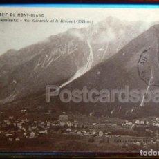 Postales: MASSIF DU MONT BLANC - CHAMONIX. VUE GENERALE BREVENT. Lote 147282118
