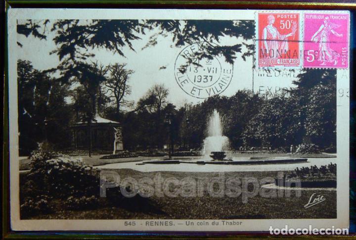 FRANCIA RENNES UN COIN DU THABOR 1937 (Postales - Postales Extranjero - Europa)