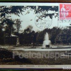 Postales: FRANCIA RENNES UN COIN DU THABOR 1937. Lote 147282274