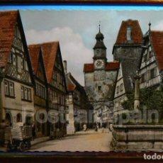 Postales: ROTHENBURG - MARKUSBRUNNEN MIT RÖDERBOGEN UND MARKUSTURM. Lote 147288406