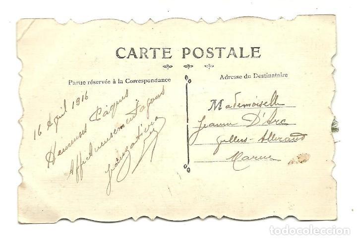 Postales: PRECIOSA POSTAL EN RELIEVE AÑO 1916 - Foto 2 - 147379594