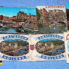 Postales: LOTE DE 9 LIBRITOS DE POSTALES DE AMSTERDAM. Lote 147389490