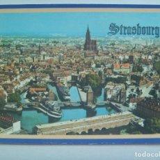 Postales: POSTAL DE STRASBURGO ( ALSACIA , FRANCIA ) : LOS PUENTES Y LA CATEDRAL. Lote 147489606