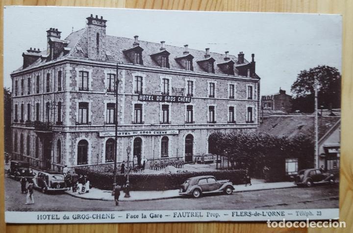 HOTEL DU GRO CHENE FACE LA GARE FAUTREL PROP. FLERS DE L´ORNE (Postales - Postales Extranjero - Europa)