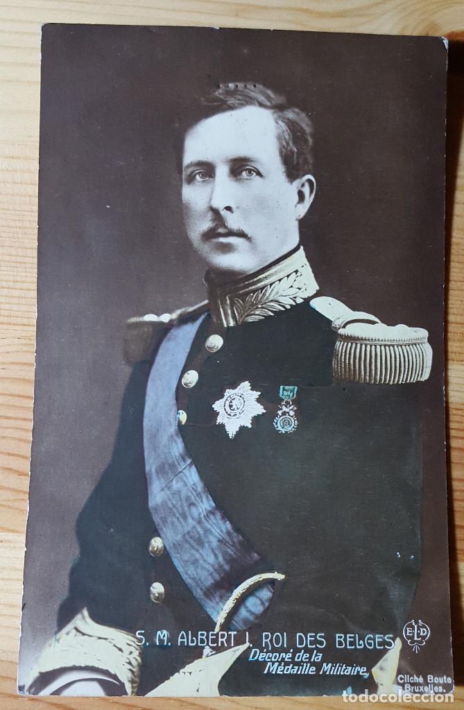 MS.M. ALBERT I. ROI DES BELGES DECORE DE LA MEDAILLE MILITAIRE (Postales - Postales Extranjero - Europa)