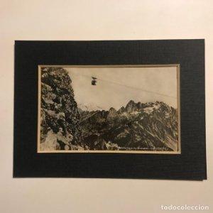 Teléferique du Brevent. 2525 m d'alt. Chamonix. Savoia. Francia. Paspartú 18x13
