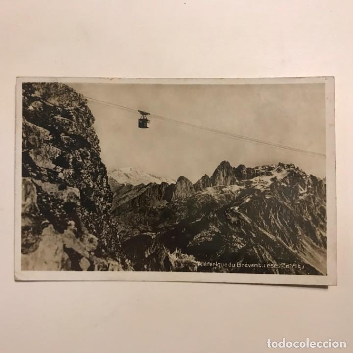 Postales: Teléferique du Brevent. 2525 m dalt. Chamonix. Savoia. Francia. Paspartú 18x13 - Foto 2 - 148625426