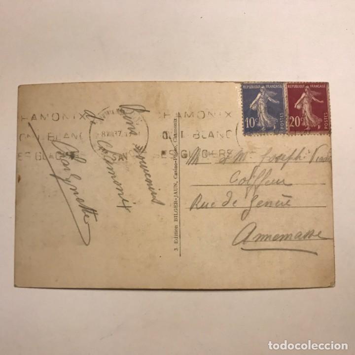 Postales: Teléferique du Brevent. 2525 m dalt. Chamonix. Savoia. Francia. Paspartú 18x13 - Foto 3 - 148625426
