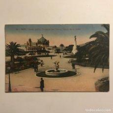 Postales: 1921 NICE. JARDIN PUBLIC, FONTAINE DES TRITONS, PALAIS DE LA JELÉE. FRANCIA. Lote 149275810