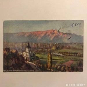 1899 Aix les bains. La Roche du Roi & La Dent du Chat. Francia