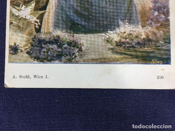 Postales: antigua tarjeta postal en color a sockl wien i llöwy ppio s xx - Foto 4 - 149452134