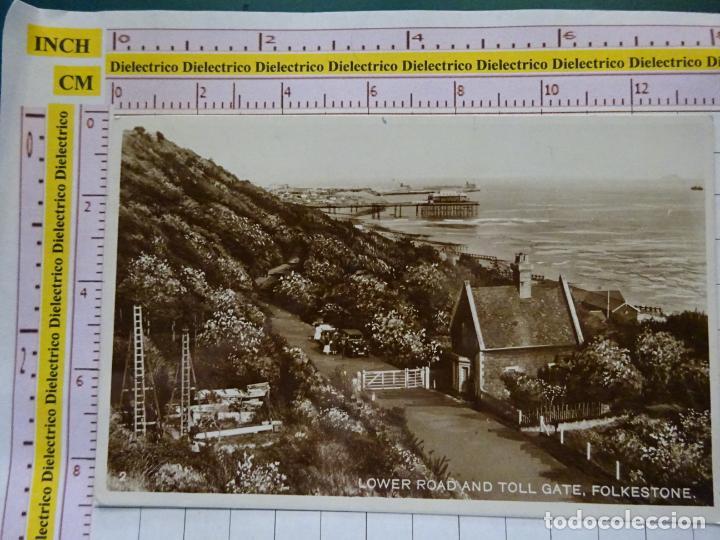 POSTAL DE INGLATERRA. FECHADA AÑO 1929. FOLKESTONE, LOWER ROAD AND TOLL GATE. 2254 (Postales - Postales Extranjero - Europa)