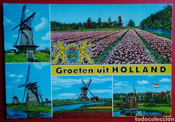 Groeten Uit Holland.Postal Holanda Molinos Groeten Uit Holland Buy Old Postcards From