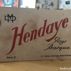Postales: HENDAYE, PAYS BASQUE. 12 VUES CHOISIES. 12 POSTALES DE HENDAYA PAÍS VASCO FRANCÉS. SERIE 2 COMPLETA. Lote 150737114
