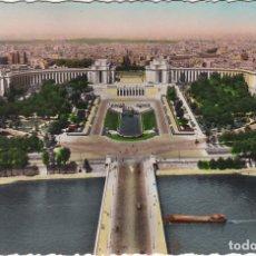Postales: PARIS ET SES MERVEILLES, LES JARDINS DU TROCADERO, PALAIS DE CHAILLOT, FRANCIA. Lote 150943170