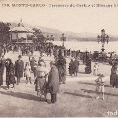 Postales: MONTE-CARLO, TERRASSES DU CASINO ET KIOSQUE A MUSIQUE, MONTECARLO, MONACO. Lote 150946918