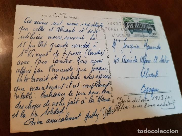 Postcards: ANTIGUA POSTAL PLAZA DE TOROS DAX FRANCIA - Foto 2 - 150993746