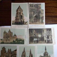 Postales: LOTE DE 7 POSTALES CATEDRALES DE FRANCIA, EL REVERSO EXPLICACIONES EN CASTELLANO DE CADA CATEDRAL. Lote 151059838