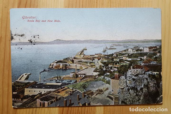 GIBRALTAR ROSIA BAY AND NEW MOLE 1909 BEANLAND MALIN & CO (Postales - Postales Extranjero - Europa)