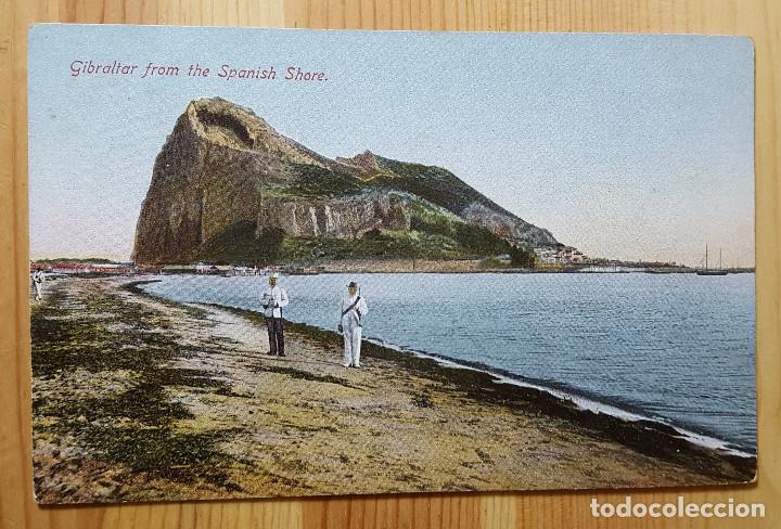 GIBRALTAR FROM THE SPANISH SHORE ED. BEANLAND MALIN & CO - GIBRALTAR DESDE LA LINEA ESPAÑA (Postales - Postales Extranjero - Europa)