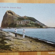 Postales: GIBRALTAR FROM THE SPANISH SHORE ED. BEANLAND MALIN & CO - GIBRALTAR DESDE LA LINEA ESPAÑA. Lote 151171298