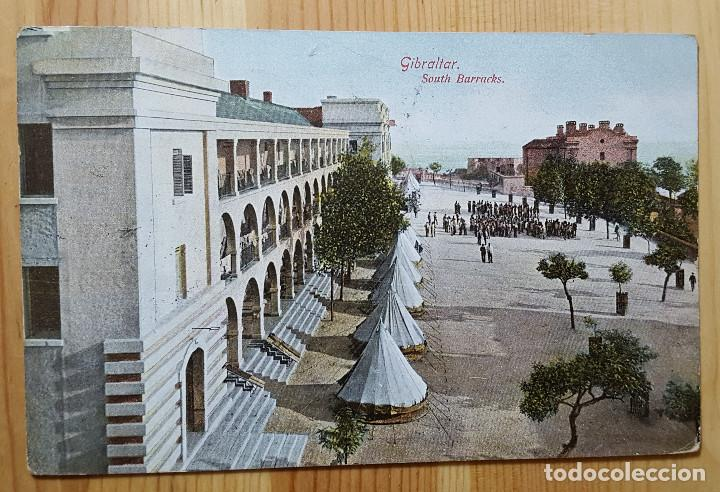 GIBRALTAR SOUTH BARRACKS 1909 ED. BEANLAND MALIN & CO (Postales - Postales Extranjero - Europa)