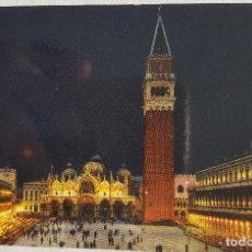 Postales: VENECIA DE NOCHE. ITALIA. VENETO. POSTAL AÑOS 70. Lote 151430882