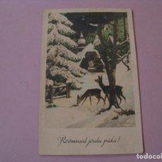 Postales: POSTAL DE NAVIDAD. ESTONIA. CIRCULADA SIN SELLO. 1939.. Lote 151659910