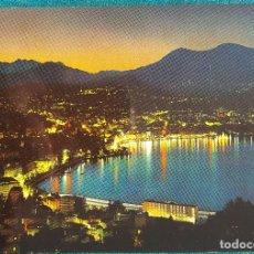 Postales: LUGANO DE NOCHE. POSTAL AÑOS 70. Lote 151669054